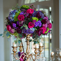 Regal Purple Centerpiece