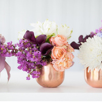 Copper Mug Centerpieces