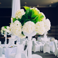Modern Green + White Centerpiece