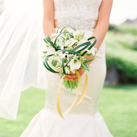 Calla Lily and Grasses Bouquet