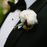 Hunter's Cotton Boutonniere