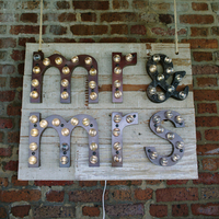 Marquee Mr. & Mrs. Sign