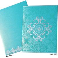 Turquoise Christian Wedding Invitation
