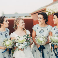 Janke and her Bridesmaids