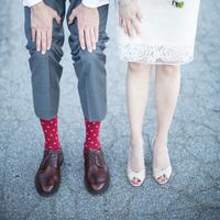Valentine's Day Wedding Socks