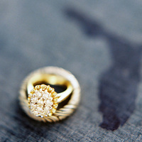 Cushion Cut Gold Engagement Ring