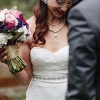 Skinny Bejeweled Wedding Sash