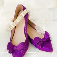 Purple Bow Flats
