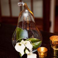 Glass Pear Decor