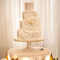 Glam Winter Wedding Cake