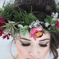 Wintery Floral Crown