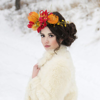 Winter White Bridal Look