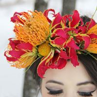 Vibrant Floral Crown