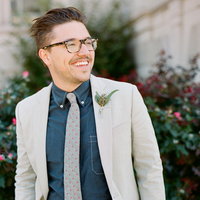 Groom in Chambray Shirt