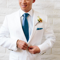 Crisp White Suit