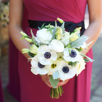 Blue and White Anemone Bouquet