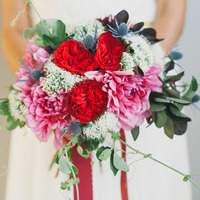 Thistle and Rose Bouquet