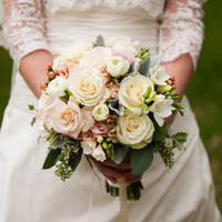 Winter Rose and Berry Bouquet