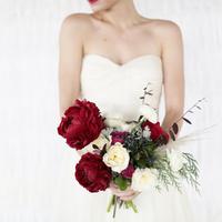 Dark Red Peony Bouquet