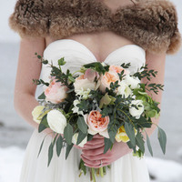 Winter Rose + Eucalyptus Bouquet