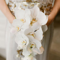 Winter Cascading Orchid Bouquet