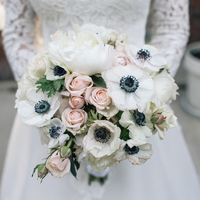 Anemone and Rose Bouquet