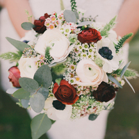 Ranunculus + Waxflower Bouquet