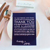 Place Setting Thank You Note