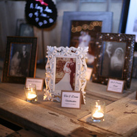 Family Wedding Photo Table