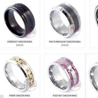 Mad Tungsten Carbon Fiber Rings for Men