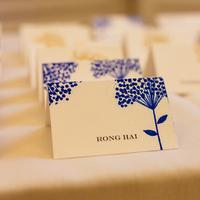 Blue Floral Escort Cards