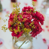 Red Garden Centerpieces