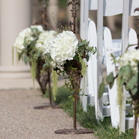 Green and White Aisle Markers