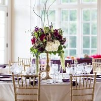 Burgundy and Green Centerpieces