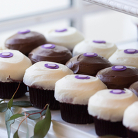 Purple Accented Cupcakes
