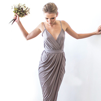 Wrap maxi Taupe dress