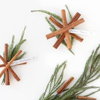 DIY: Cinnamon Snowflake Escort Cards