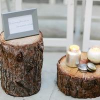 Tree Stump Ceremony Decor