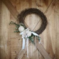 Grapevine and Rose Wreath