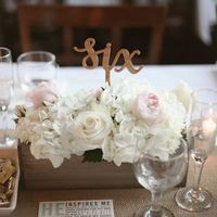Trough Centerpiece Table Numbers