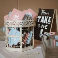 Pink and Blue Koozie Favors