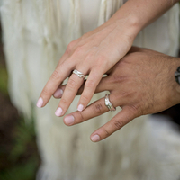 Kristen and Siya's Wedding Rings