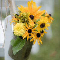 Rustic Yellow Aisle Markers