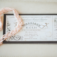 Vintage Ticket Invitations