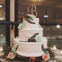 Whimsical Winter Wedding Cake