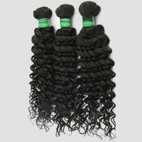 100% Human Hair 26 inch Deep Curly Virgin Brazilian Hair / Hair Extension