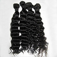 100% Human Hair 26 inch Deep Wave Virgin Brazilian Hair / Hair Extension
