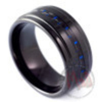 Black Tungsten rings for men from Mad Tungsten Rings Australia - #Overboost Tungsten Rings