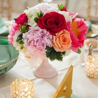 Rose and Peony Centerpieces