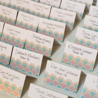 Colorful Scalloped Escort Cards